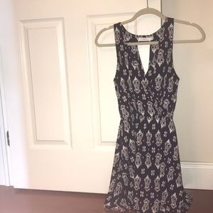 """""""Lush"""" patterned navy dress from Nordstrom"""